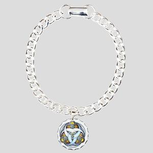 Celtic Triple Crescents  Charm Bracelet, One Charm