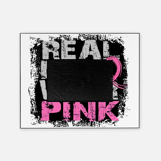 - Real Men Wear Pink Breast Cancer Picture Frame