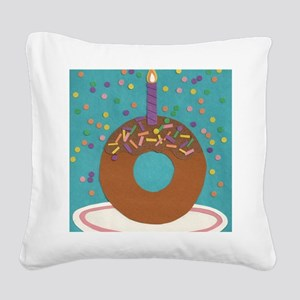 Matts Donut Square Canvas Pillow