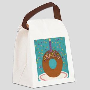 Matts Donut Canvas Lunch Bag