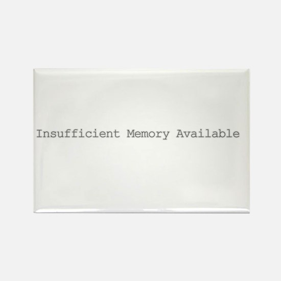 Insufficient memory available Rectangle Magnet