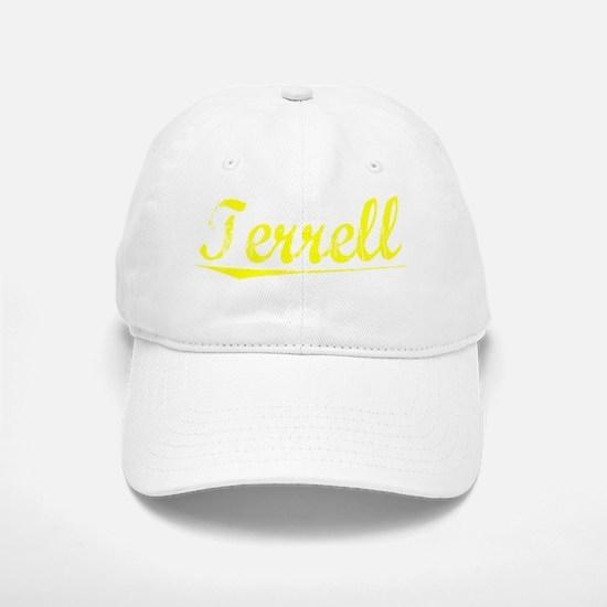 Terrell, Yellow Baseball Baseball Cap