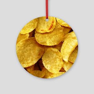potatochips Round Ornament