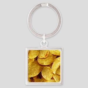 potatochips Square Keychain