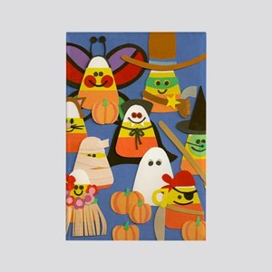 Candy Corn on Parade Rectangle Magnet