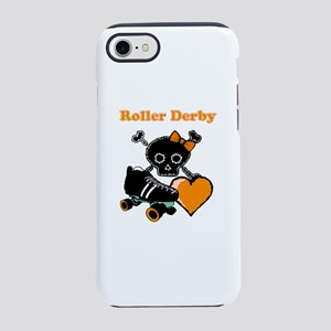 Roller Derby Heart (Orange) iPhone 7 Tough Case