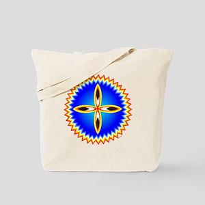 EAGLE FEATHER CROSS MEDALLION Tote Bag