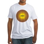 Swirling Star Peace Fitted T-Shirt