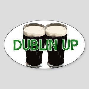 Dublin Up Oval Sticker