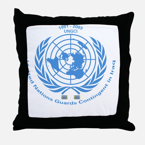 UNGCI Blue logo Throw Pillow