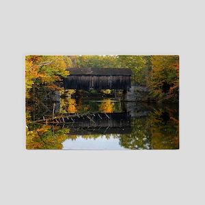 Covered Bridge Autumn View 3'x5' Area Rug