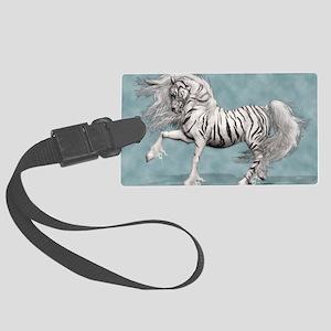 White Tiger Unicorn Large Luggage Tag