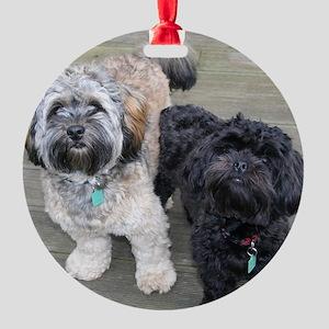 Burt&Ernie Round Ornament
