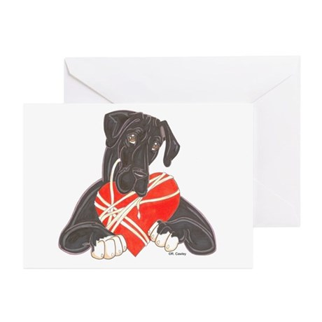 N Blk/White Heartstrings Greeting Cards (Package o