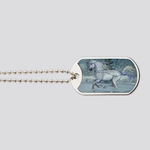 2012 Holiday Unicorn Blue Dog Tags