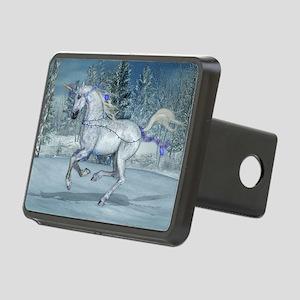 2012 Holiday Unicorn Blue Rectangular Hitch Cover