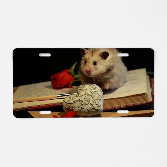 Hamster 1 Aluminum License Plate