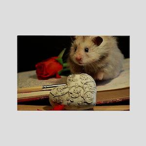 Hamster 1 Rectangle Magnet