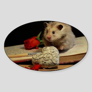Hamster 1 Sticker (Oval)