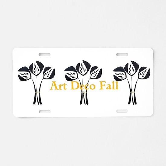Art Deco Style Floral Aluminum License Plate