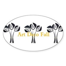 Art Deco Style Floral Sticker