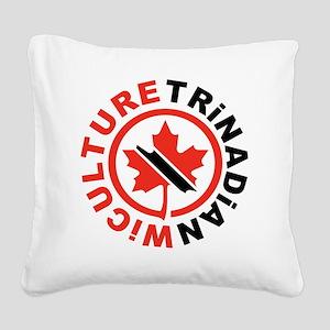 Trinadian Square Canvas Pillow