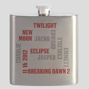 Twilight Saga Subway Art Flask