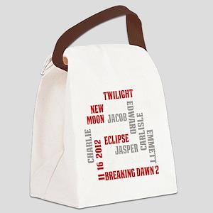 Twilight Saga Subway Art Canvas Lunch Bag