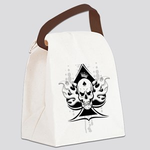 ace of spades skull Canvas Lunch Bag
