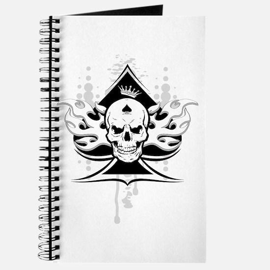 ace of spades skull Journal