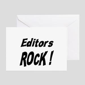 Editors Rock ! Greeting Cards (Pk of 10)