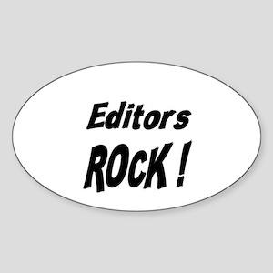 Editors Rock ! Oval Sticker