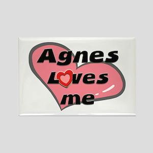 agnes loves me Rectangle Magnet