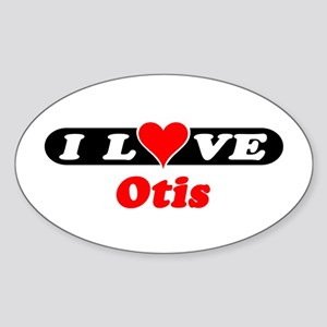 I Love Otis Oval Sticker