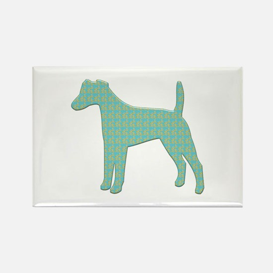 Paisley Foxie Rectangle Magnet (100 pack)