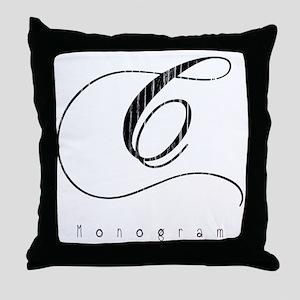Letter C Monogram Throw Pillow