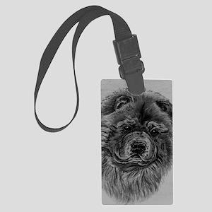 Chow  Chow Dog Headstody - Black Large Luggage Tag
