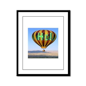 hi! hot air Framed Panel Print