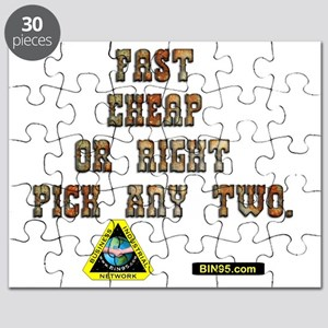 Fast Cheap Or Right Pick Any two Puzzle