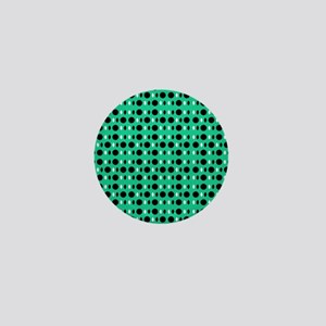 Green Black Perception Designer Mini Button