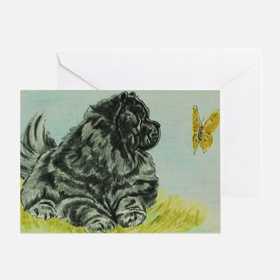 Chow Chow Dog with Butterfly Greeting Card