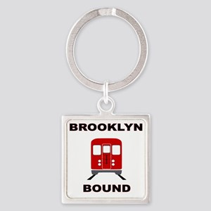 Brooklyn Bound Square Keychain