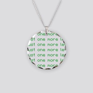 One more level Necklace Circle Charm