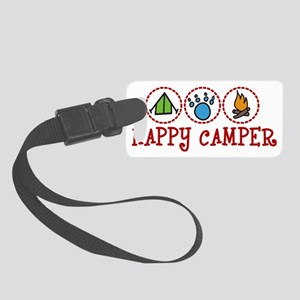 Happy Camper Small Luggage Tag