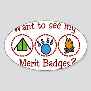 Merit Badges Sticker (Oval)