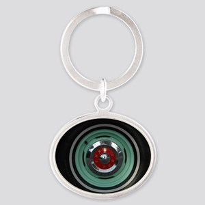 Cap Ten Oval Keychain