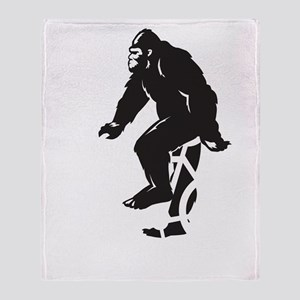 Bigfoot Rides Throw Blanket