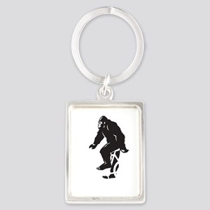Bigfoot Rides Portrait Keychain