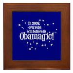 Obamagic in 2008 Framed Tile