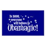 Obamagic in 2008 Rectangle Sticker